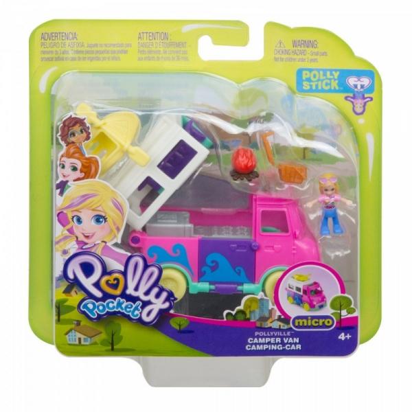Figurka Polly Pocket otwierany pojazd Pollyville Camper (GGC39/GKL49)