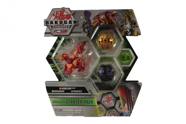 Bakugan: Armored Alliance. Zestaw startowy - Howlkor Ultra, Dragonoid, Pegatrix (6055886/20122475)