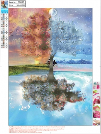 Mozaika diamentowa 5D 30x40cm Seasons 89630
