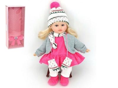 Lalka Adar 40cm, w zimowym ubranku, z dźwiękiem: śpiewa i mówi po polsku 400 mm (526303)