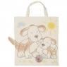 Bawełniana torba do kolorowania - Pieski (GOKI-58730)