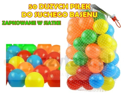 Piłki do suchego basenu w siatce 50 szt 7 cm