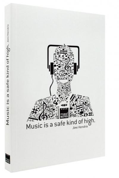 Notatnik ozdobny A6/160K stron gładki Music