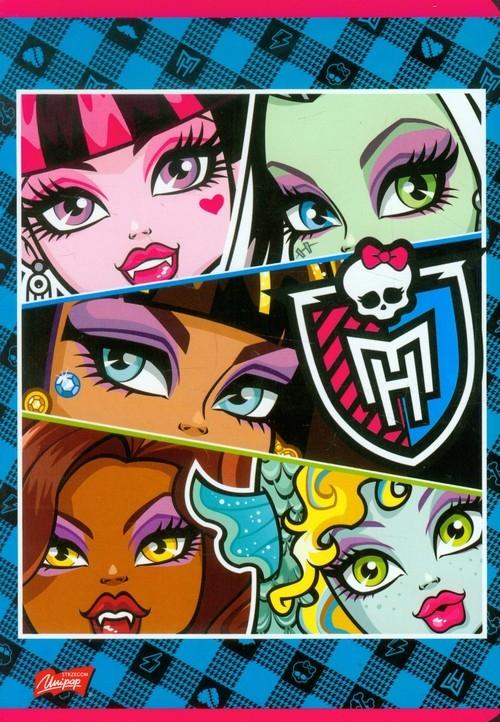 Zeszyt Monster High w linie 16 stron A5 niebieska