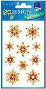 Naklejki błyszczące Z Design Christmas Płatki śniegu