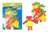 Ozdoba dekoracyjna piankowa dziewczynka 4 komplety