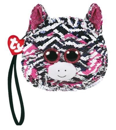 TY Fashion - cekinowa torba na nadgarstek Zebra (95230)