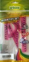 Zestaw geometryczny 4 elementy różowy (CR610)