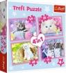 Puzzle 4w1 Kocie zabawy (34330)