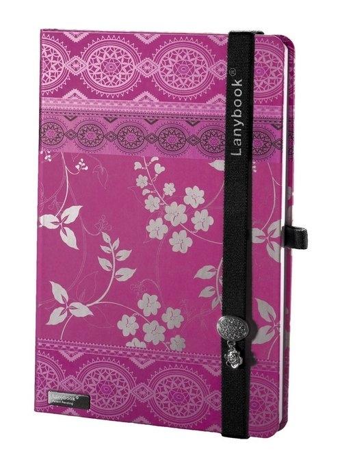 Notes A6 Lanybook Oriental Dream w kratkę fuksja