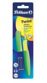 Pióro wieczne Pelikan Twist P457 M Neon Green +2 naboje