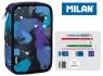 Piórnik MILAN 2-poziomowy z wyposażeniem ARTY GEO niebieski 081264AGB