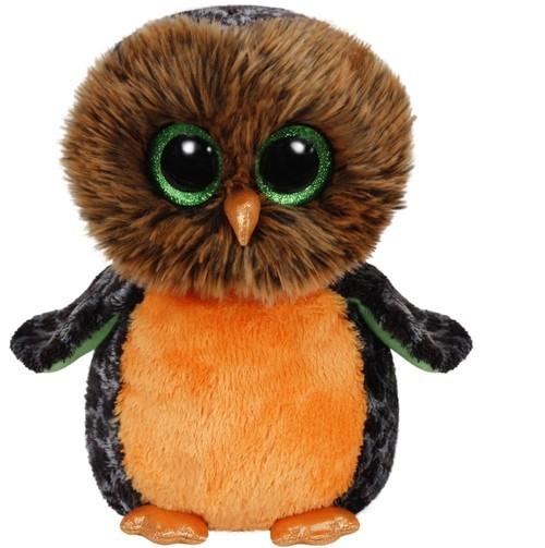 Beanie Boos Midnight - pomarańczowa sowa średnia