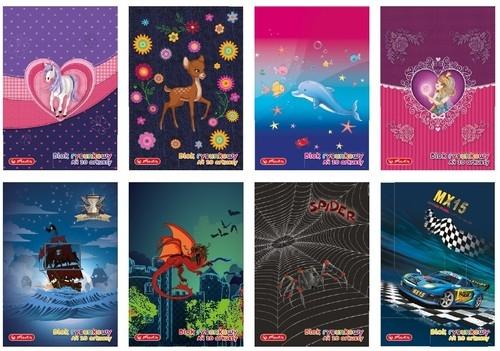Blok rysunkowy A4 20 kartek 10 sztuk mix