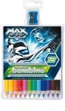 Kredki bambino w oprawie drewnianej 12 kolorów Max Steel