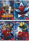 Wkłady do segregatora A6 Spider-Man 8 kartek z kolorowankami i naklejkami seria 302