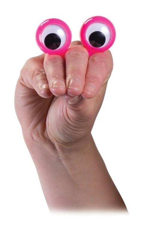Oczy na palce pacynka różowa