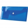 Teczka/koperta plastikowa na guzik Tetis DL - niebieska (BT612-N)