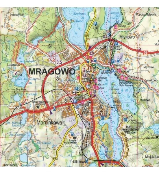 Mazury część południowa, 1:60 000 - mapa turystyczna praca zbiorowa