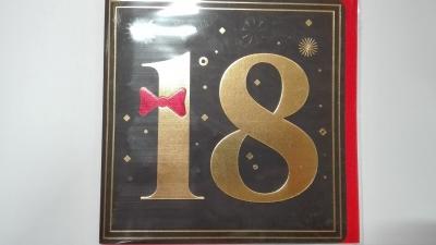 Karnet kwadrat 18-TKI złocony mix CO