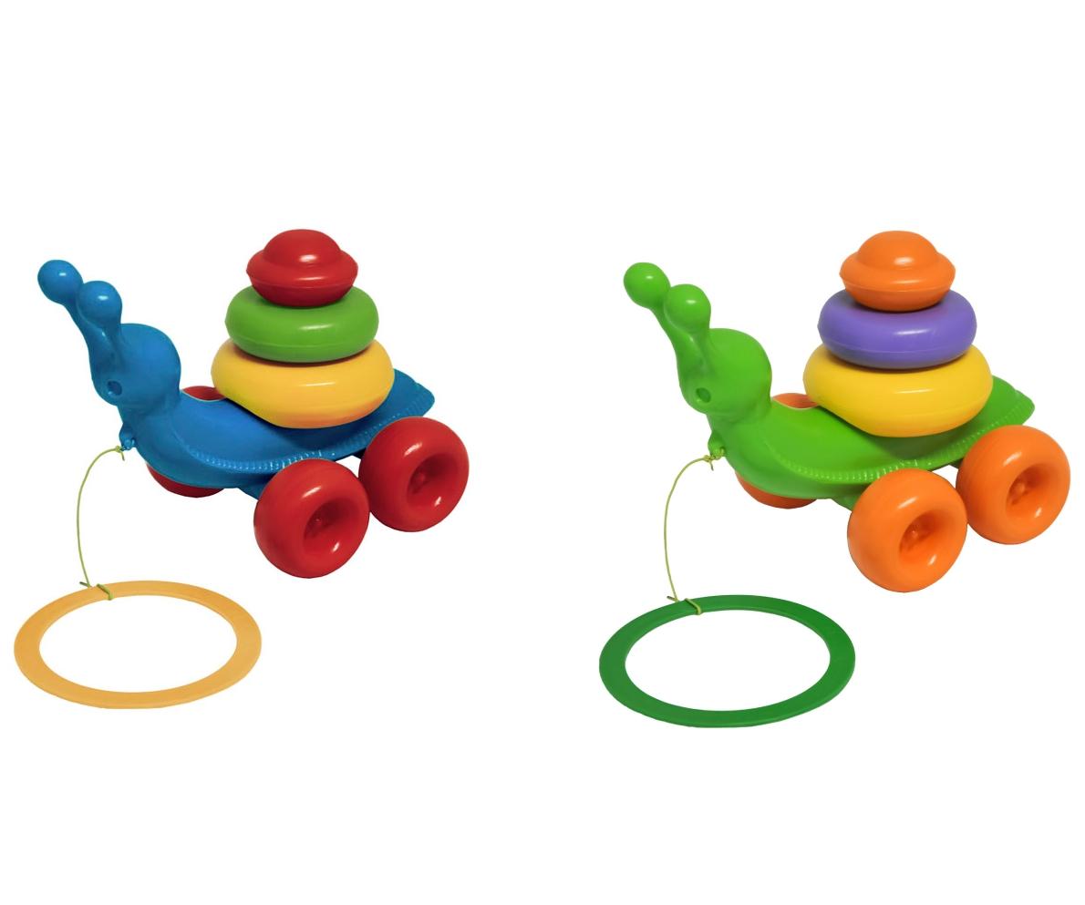 Ślimak zabawka edukacyjna - 8 elementów MIX (42230)