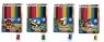 Kredki ołówkowe Astrino trójkątne 12 kolorów w drewnie + temperówka + 1