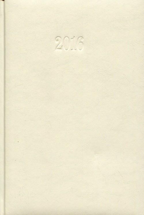 Kalendarz 2016 Książkowy tygodniowy A5 Ecru