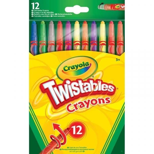 Wykręcane kredki świecowe Crayola, 12 kolorów
