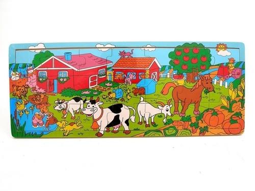 Puzzle drewniane ze zwierzakami 21 elementów (1528308)