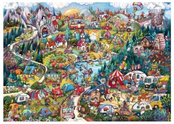 Puzzle 2000 elementów Aktywny weekend, Rita Bergman (Puzzle+plakat) (29930)