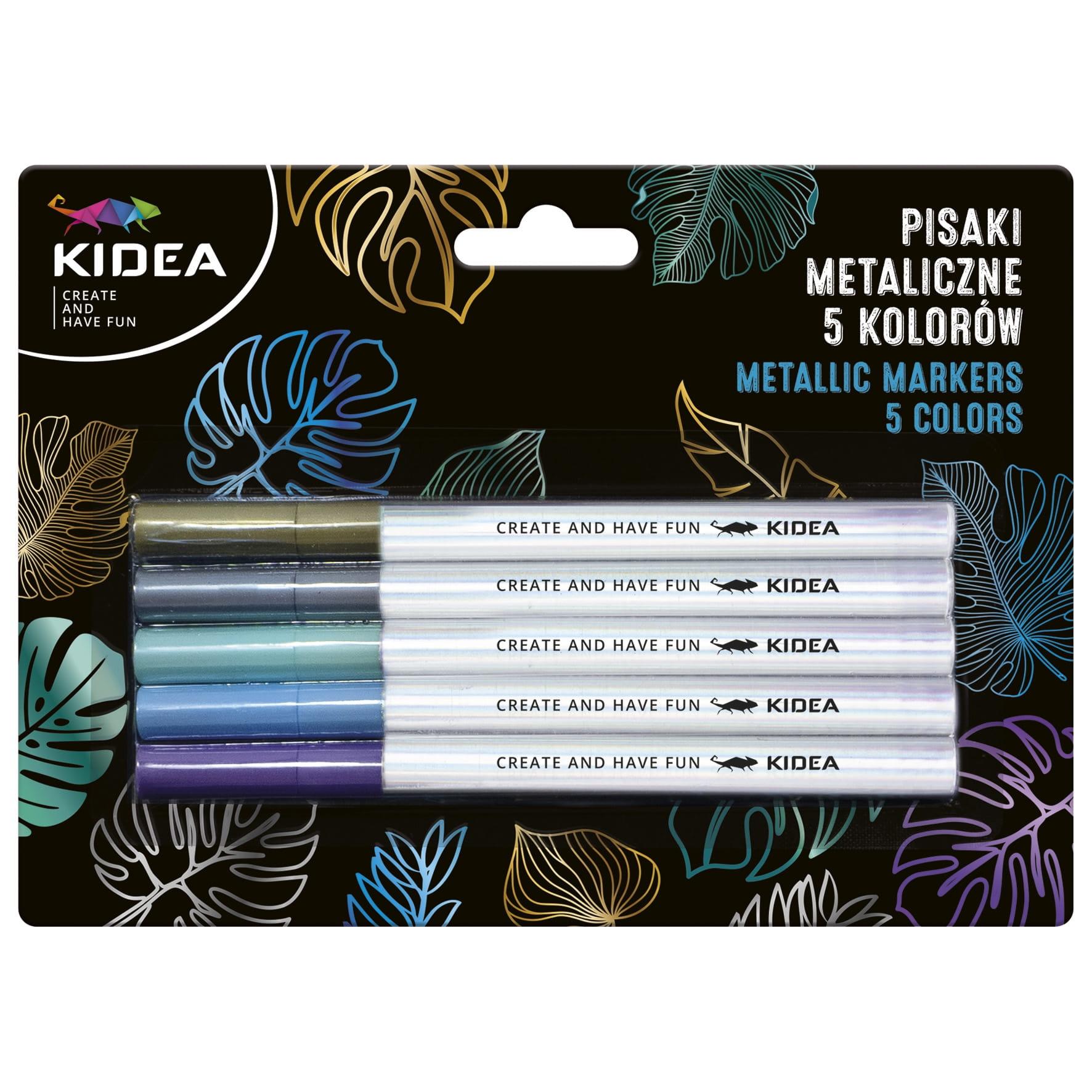 Pisaki metaliczne Kidea A, 5 kolorów (PMA5KKA)
