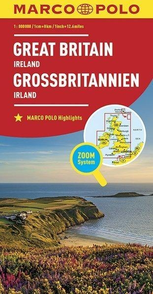 Mapa ZOOM System Great Britain, Ireland 1:800 000