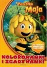 Pszczółka Maja Kolorowanki i zgadywanki z naklejkami