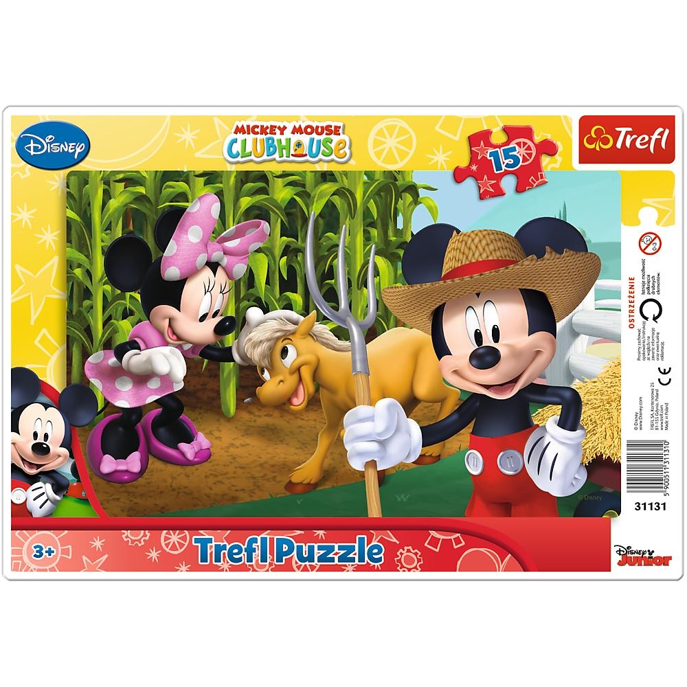 Puzzle ramkowe 15: Myszka Miki na wsi (31131)