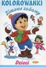 Zimowe zabawy Dzieci Kolorowanka z naklejkami