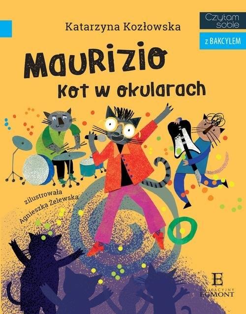 Czytam sobie z Bakcylem Maurizio Kot w okularach Kozłowska Katarzyna