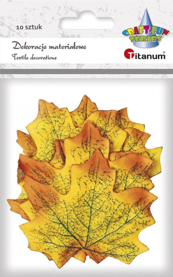 Ozdoba materiałowa Titanum Craft-fun Liście klonu żółto-pomarańczowy 10 szt