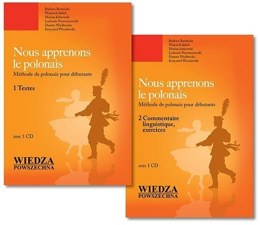 NOUS APPRENONS LE POLONAIS TOM 1-2 + CD OPRACOWANIE  ZBIOROWE