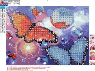Mozaika diamentowa 5D 30x40cm Butterflies 89631