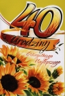 Karnet 40 Urodziny B6 cyfry dla dorosłych