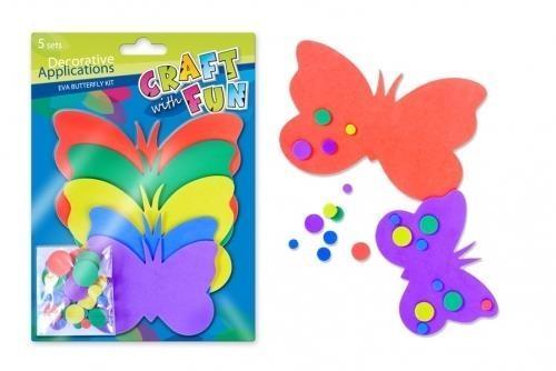 Ozdoba dekoracyjna piankowa motyl 5 kompletów