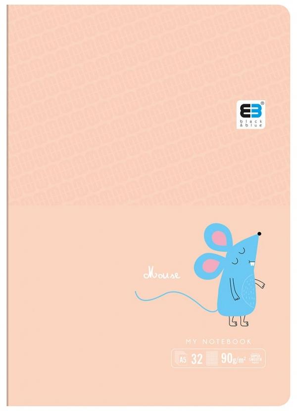 Zeszyt w kolorową linię A5, 32 kartki, B&B Kids Pastel