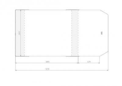 Okładka 285 mm (wysokość) (50 sztuk) 285