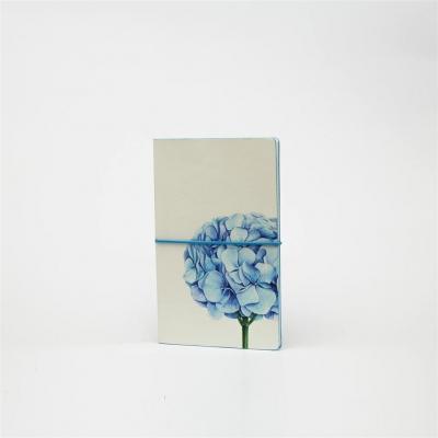 Notatnik A5 Ltd M linia + kratka Kwiaty. Hortensja