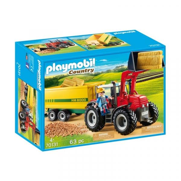 Playmobil Country: Duży traktor z przyczepą (70131)