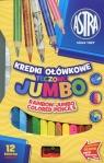 Kredki ołówkowe Jumbo tęczowe 12 kolorów