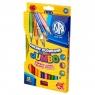 Kredki ołówkowe Jumbo trójkątne tęczowe + temperówka 12 kolorów (312118002)