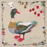 Karnet kwadrat z kopertą Feeling Lucky Ducky