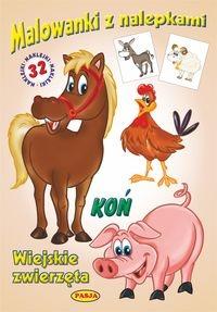 Malowanki z nalepkami. Wiejskie zwierzęta. Koń