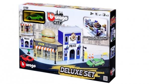 City Deluxe Set 4 Policja ulica burger (18-31507)